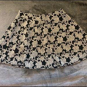 Knit Rose Skater Skirt